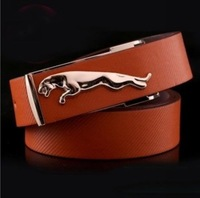 Retail Best Selling Men's PU Leather Leopard Buckle Belt Fashion Man Classic Design Male Casual Pin Buckle Belts