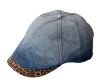 Wholesale women and men fashion denim newsboy caps