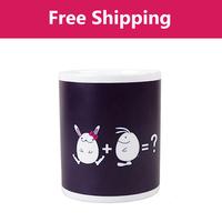 Free shipping Rabbit Color Changing Mug The Heat Change Ceramic Tea Mug Cup Senstive Hot Cold Heat Office Coffee Cup