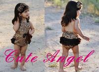 s Leopard Brown romper newborn - posh petti rompers jumpsuit shortall -ABB63C