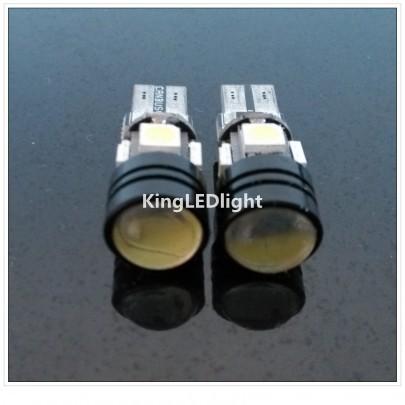 Free shipping 4pcs T10 W5W 5050 4smd + 1.5W Led Canbus Led Lamps No OBC Error canbus led T10 4smd 12V LED Bulbs(China (Mainland))