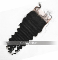 6A top quality brazilian lace closure deep wave virgin hair lace closures 100% human unprocessed virgin hair natural can be dyed