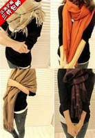 2012 ultra long tassel plaid scarf air conditioning cape