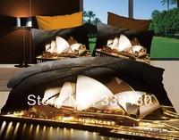 2014 promotion scenic print  100%cotton 3d bedding sets