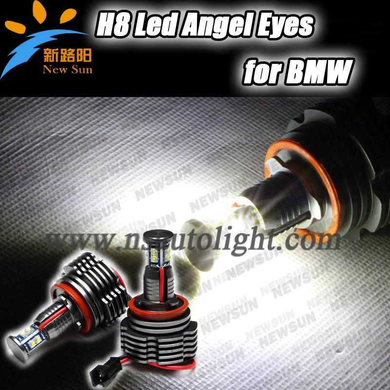 40W Super Bright white Cree Led Angel Eye Halo light Bulbs Kit H8 Light Lamp for BMW E60 E61 E63 E64 E70 E71 E82 E87 E92 E93(China (Mainland))