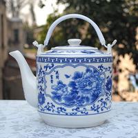 Ceramic teapot Large large teapot blue and white glaze ceramic cool water pot cold water pot 2.7l large capacity