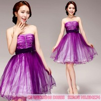 Cii purple diamond  toast cheongsam dress bridesmaid dress short paragraph special occasion dress
