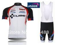 Free shipping+top Polyester +pad COOLMAX+2013 white CUBE team Cycling Jersey+BIB SHORTS Bike Sets Clothes Cycling wear/bike wear