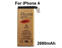 Free Shipping For iphone 4G battery 3.7V 2680mAh High Capacity 4G Gold battery Free DHL
