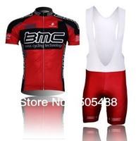 Free shipping+top Polyester +pad COOLMAX+2010 red BMC team Cycling Jersey+BIB SHORTS Bike Sets Clothes Cycling wear/bike wear