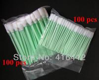 Free Shipping - Solvent Printer Cleaning Swab Kit - 100 pcs Large Foam swab + 100 pcs Small Swab