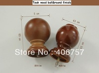 New design Quality Traceries style  teak wood color curtain rod solid wood single brackets  & more colors available
