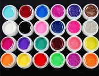 24 Pcs Mix 12 Pure 12 Glitter Color UV Builder Gel for Nail Art Fasle Tips Set