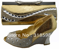 Women Shoes and Matching bag with Crystal rhinestone for free shipping