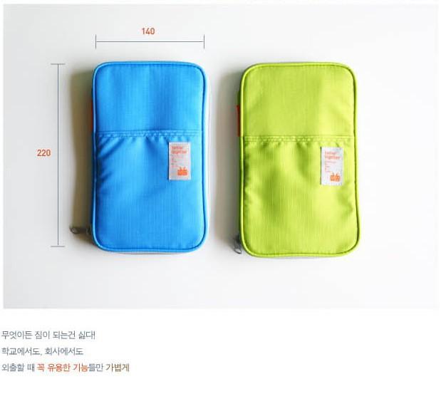 Hot sale New Storage Bag Travel Organizer Bag Stationery Bag Card Bag Totes Blue and Green Colors(China (Mainland))