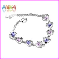 Free Shipping Full Heart Bracelet Made With Swarovski Elements #102924