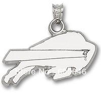 wholesale 50pcs a lot Buffalo Bills rhodium plated sports charms jewelry A111294