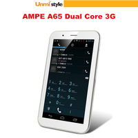 AMPE A65 3G Tablet PC 6.5 Inch Android 4.1.2 Dual Core WCDMA/GSM Dual Camera Bluetooth GPS OTG Dual SIM