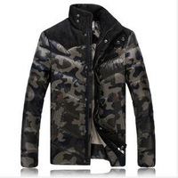 New 2014 winter military camouflage coat ski suit men plus size outdoors long thicken men's clothing down & parkas jackets D278