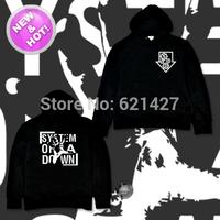system of a down Soad novelty metal thickening fleece sweatshirt hoodie men's sports hoody