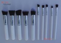 10pcs Professional Cosmetic Makeup Brushes Set Foundation Brush Eyeshadow brush white - RUA