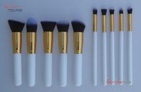 Free Shipping10pcs Professional Cosmetic Makeup Brushes Set Foundation Brush Eyeshadow brush - gold