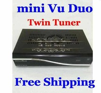 Best Vu Duo/MINI VU DUO Twin Tuner DVB-S2 HD Linux Satellite Receiver Support Future Official Update PVR Free Shipping 2pcs