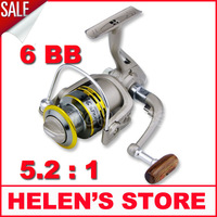 Free shipping GS3000 6 Ball Bearings fishing reel spinning reel Left/Right Interchangeable Collapsible Handle metal spool