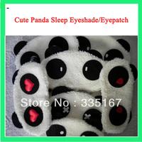 40pcs/lot Promotional Gifts Panda Cartoon Soft Eye Mask Sleeping anti-light cover Travel Sleeping Eye Mask