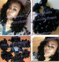 6A quality 3pcs/lot #1b virgin brazilian romance curl aunty funmi hair for black women free shipping 8-28inch mix length