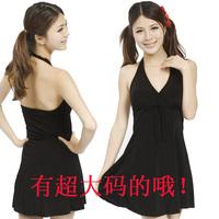 Plus size black twinset female swimwear plus size plus size swimwear slim waist 1106 spa