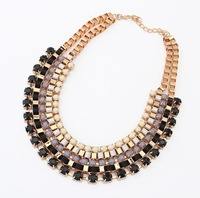 European and American fashion jewelry wholesale necklace retro wild new multicolor collar necklace