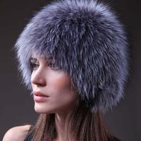 Free Shipping, 100%Real White fox Fur Cap,Silver Fox Fur Cap, Fox Fur Hat, Natural Fur*WHOLESALE & RETAIL SU-14003