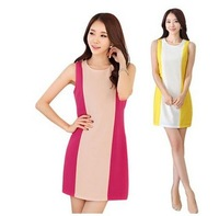 2014 women's hot Fashion joining together cultivate one's morality vest dress 2 colors