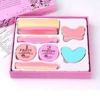 Lilyangel finger set polishing wax set polishing block sands of finger nail art tools nursing