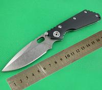 NEW CNC BlACK G10 Handle Strider SMF SNG Folding Pocket Knife Stonewashed 5Cr13Wov 56HRC Blade Camping Cutting Tool FREEshipping