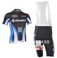Free shipping+Polyester+pad COOLMAX+2013 blue GIANT Cycling Jersey+BIB SHORTS Bike Sets apparel/Clothes Cycling wear/bike wear