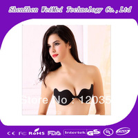 Women Sexy Magic Invisible Bust Strapless Self Adhesive Push Up Backless Fashion Silicone Bra Free Shipping