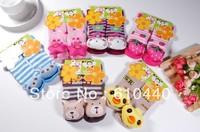 Free shipping 6pair/lot baby socks kids animal Anti-slip walking socks baby Floor Socks indoor wear Baby footwear 0-2 2-4years