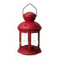 Big Promotion!IKEA Rotera Red Iron Candle Holder Weddings lantern Metal Candle stick holder Wedding gift House decoration