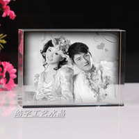 Image crystal carving portrait carving wedding gift birthday gift gifts to send girlfriend mother