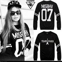 Fashion misbhv 07 cramp iron 100% cotton loose pullover lovers male Women sweatshirt