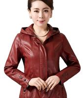 Free Shipping! 2014 Spring with a Hood Leather Female Short design Slim Jacket,Women Plus size Mother PU Coat XXL XXXL 4XL 5XL