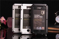 Survival Outdoor Shock Waterproof Sport Metal Alloy Case Cover for iPhone 5