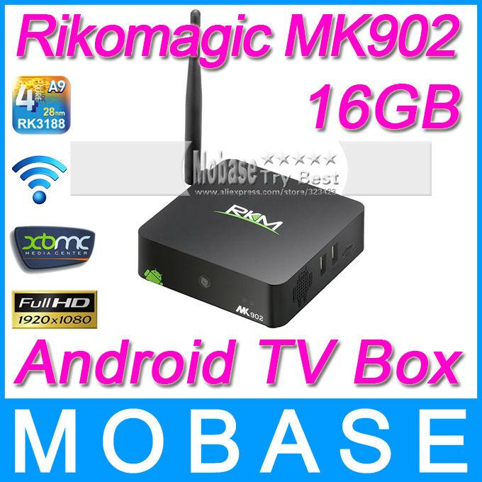 Rikomagic MK902 Android TV BOX RK3188 Quad Core 2G/16G Camera Mircophone Wireless HDMI Mini PC Media Player Smart TV Receiver(China (Mainland))