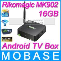 Rikomagic MK902 Android TV BOX RK3188 Quad Core 2G/16G Camera Mircophone Wireless HDMI Mini PC Media Player Smart TV Receiver