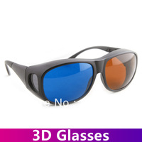 Promotion!100pcs/lot  Amber&Blue 3D Glasses Free Shippng High Quality Anaglyphic Digital Video Glasses for Home 3D Video