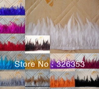 Free shipping  11yards  pheasant Neck Feather Fringe Trim White color  4-6inch Dress jewelry/Christmas/Halloween decoration