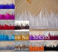 Free shipping Wholesale 11yards Beautiful pheasant Neck Feather Fringe Trim White color  4-6inch