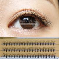 Engraft individual mink hair lashes as contentedly handmade crisscross false eyelashes Free shipping